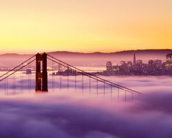 Most loved Cities, San Francisco, California, Fog over the bridge