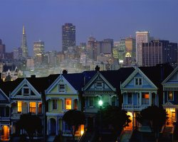 Most loved Cities, San Francisco, California, Painted ladies