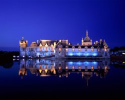 Chantilly, France, Chateaude Chantilly by night