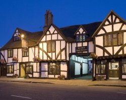 Movie Stage Holiday, Buckinghamshire, London, United Kingdom, Kings Arms Hotel entrance at night