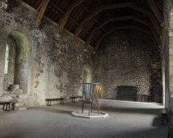 Movie Style Holiday, Doune Castle, Scotland, Interior view