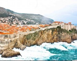 Movie Style Holiday, Dubrovnic, Croatia, Europe, Outside walls
