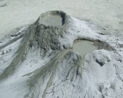 Spectacular Holiday, Buzau, Romania, Mud Volcanoes view