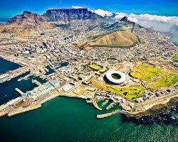 Babel Tower Holiday, South Africa, Landscape aerial view