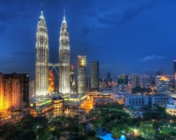 Babel Tower Holiday, Malaysia, City by night