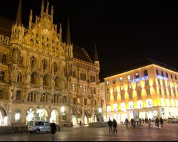 Munich, Germany, City at night