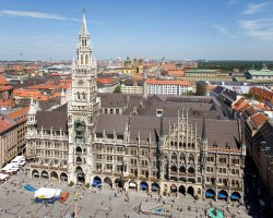 Munich, Germany, City Hall aerial view