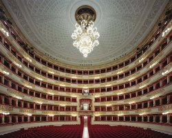 Music Lovers Destinations, Milan, Italy, La Scala Opera House central hall