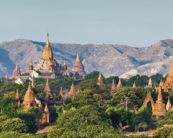 Mystic Holiday, Myanmar, Asia, Temples of Bagan, Landscape