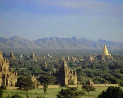 Mystic Holiday, Myanmar, Asia, Temples of Bagan, Panoramic overview sights