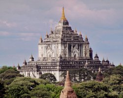 Mystic Holiday, Myanmar, Asia, Temples of Bagan, Temple far view