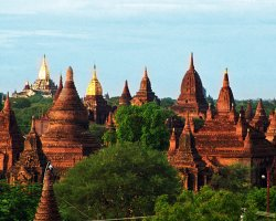 Mystic Holiday, Myanmar, Asia, Temples of Bagan, Landscapes view