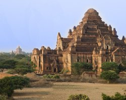 Mystic Holiday, Myanmar, Asia, Temples of Bagan, Temple side view