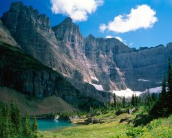 National Park Vacation, Montana, USA, Glacier National Park, Near Iceberg Lake