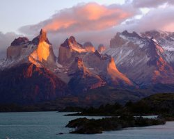National Park Holiday, Torres del Paine National Park, Chile, Sunset