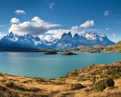 National Park Holiday, Torres del Paine National Park, Chile, Lake view