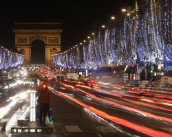 New Year 2012, Paris, France, Champs Elysees by night