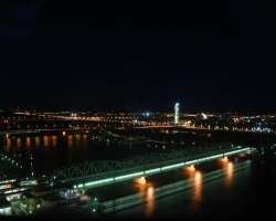 New Year 2012, Vienna, Austria, Aerial view of The Danube