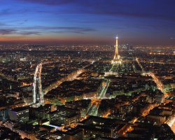 New Year 2012, Paris, France, City night view