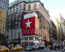 New York, U.S.A., Macy's sign