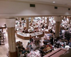 New York, U.S.A., Macys store interior