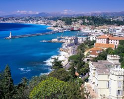 Low Budget Vacation, Nice, France, Coastal view