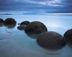 Oddest Beach Holiday, Koekohe Beach, Moeraki, New Zealand, Rock Lump beach