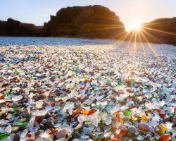 Oddest Beach Holiday, Glass Beach, Fort Bragg, California, Panorama view