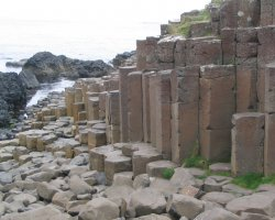 Oddest Beach Holiday, Giants Causeway, Ireland, Rock columns view