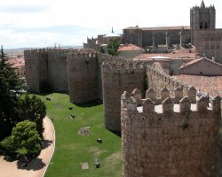 Old City Walls, Avila, Spain, Upper view
