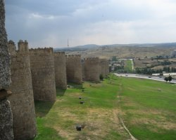 Old City Walls, Avila, Spain, Close view