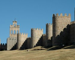 Old City Walls, Avila, Spain, Panorama
