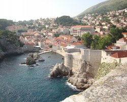 Old City Walls, Dubrovnik, Croatia, Upper view