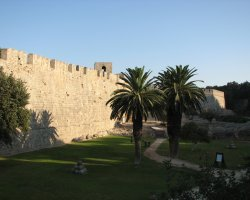 Old City Walls, Rhodes, Greece, Overall view