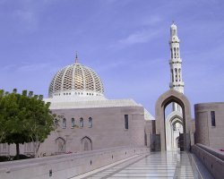 Tourist Attraction, Muscat, Oman, Sultan Qaboos grand mosque