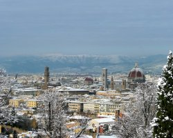Paradise Destination, Florence, Italy, City view by winter