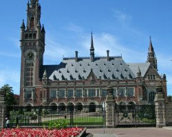 The Hague, Netherlands, Peace Palace, Front view