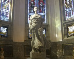 The Hague, Netherlands, Peace Palace, Statue at entrance hall