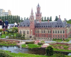 The Hague, Netherlands, Peace Palace, Scale model in Amsterdam