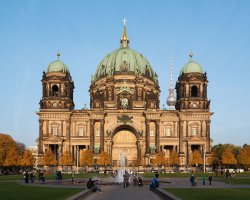 Perfect City Break Holiday, Germany, Berlin, Berlin Cathedral front view