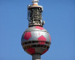 Perfect City Break Holiday, Germany, Berlin, Fernsehturm up view