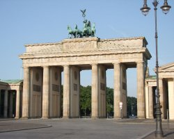 Perfect City Break Holiday, Germany, Berlin, Brandenburg Gate front view