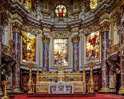 Perfect City Break Holiday, Germany, Berlin, Berlin Cathedral interior view