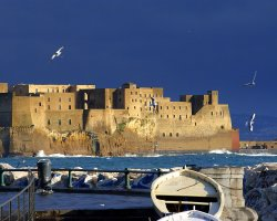 Perfect City Break Holiday, Italy, Naples, Castel dell Ovo panorama