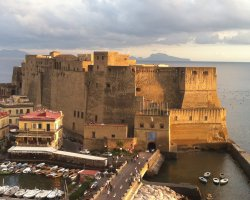 Perfect City Break Holiday, Italy, Naples, Castel dell Ovo overview