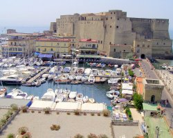 Perfect City Break Holiday, Italy, Naples, Castel dell Ovo marina view