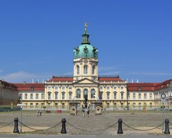 Perfect City Break Holiday, Germany, Berlin, Charlottenburg Palace front entrance view