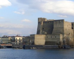 Perfect City Break Holiday, Italy, Naples, Castel dell Ovo panorama view