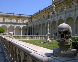 Perfect City Break Holiday, Italy, Naples, Certosa di San Martino architecture detail