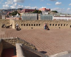 Perfect City Break Holiday, Italy, Naples, Castel dell Ovo fortification roof view